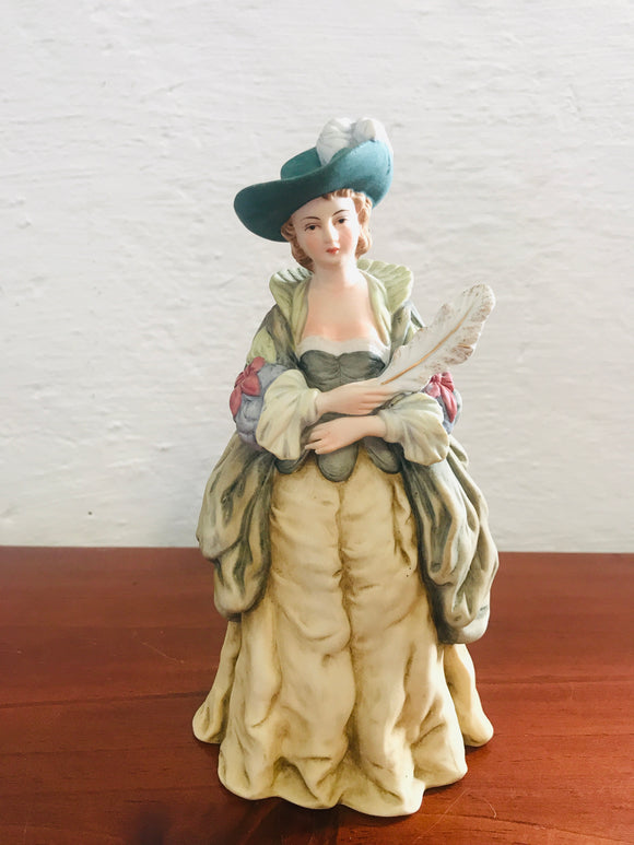 Vintage Colonial Lady Bisque Figurine (8474)