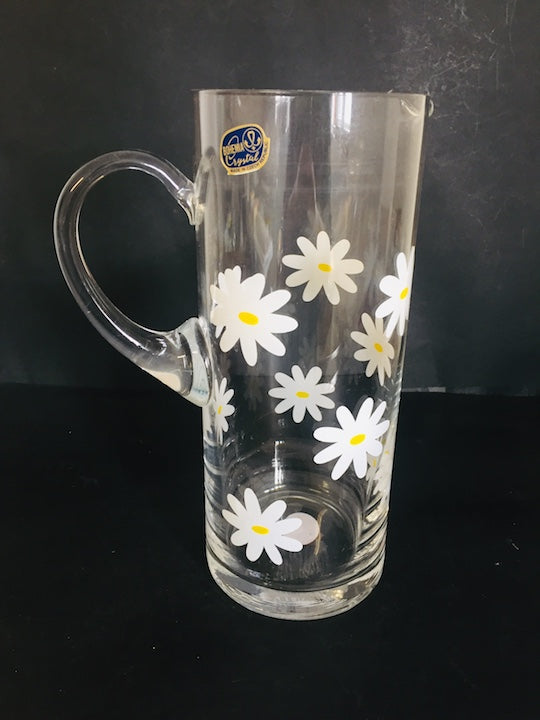 Bohemia Crystal Jug with Daisy Pattern (ref: 5535)