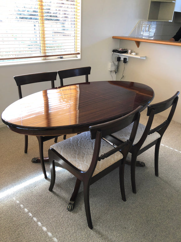 Mahogany Dining Table & 4 Chairs (8871)