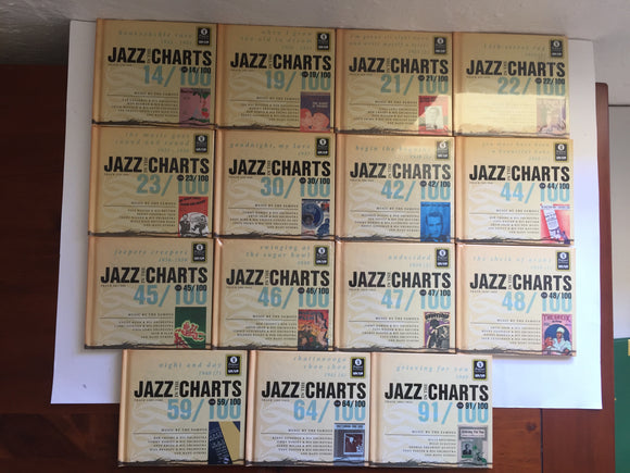 15 x Jazz In The Charts Books with CD's (8526)