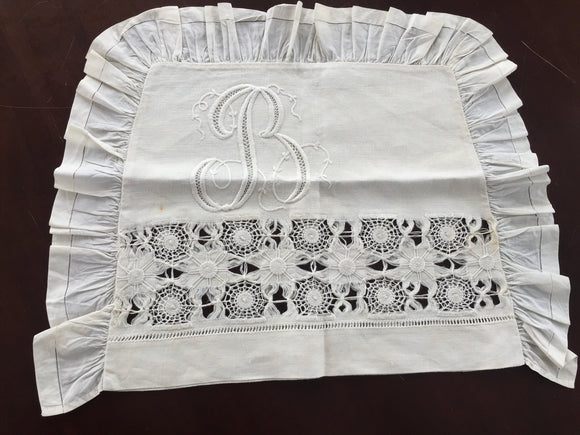 Antique Embroidered Baby Pillow Slip (8551)