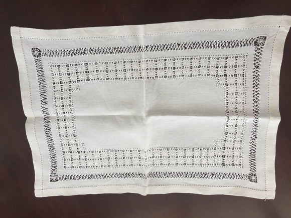 Antique Linen Tray Cloth (8560)