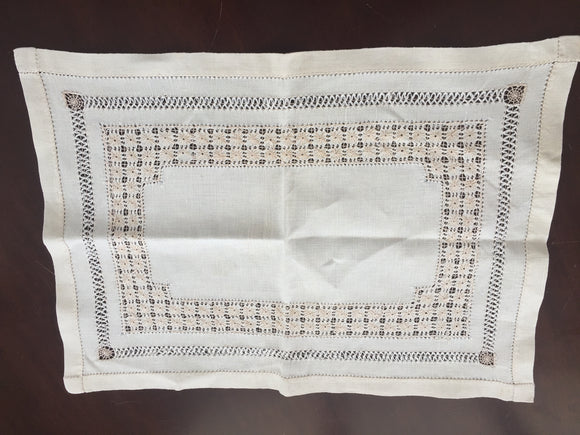 Antique Linen Tray Cloth (8561)