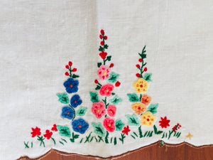 Antique Hand Embroidered Tray Cloth (8384)