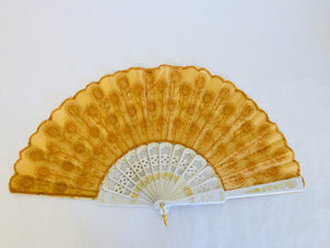 Antique Embroidered Ladies Handheld Fan (ref: 5693)