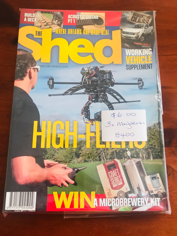 3 x 2014 The Shed Magazines (8400)