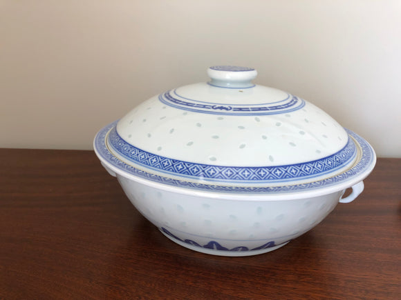 Blue White Serving Dish with Lid (ref: 1581)