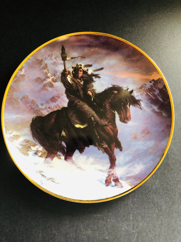 Franklin Mint: Spirit of the West Wind Plate (8834)