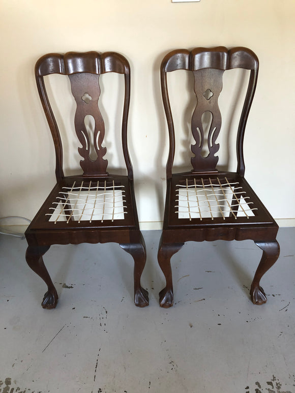 2 x Antique, Ornately Turned, South African Chairs (ref: 5622)