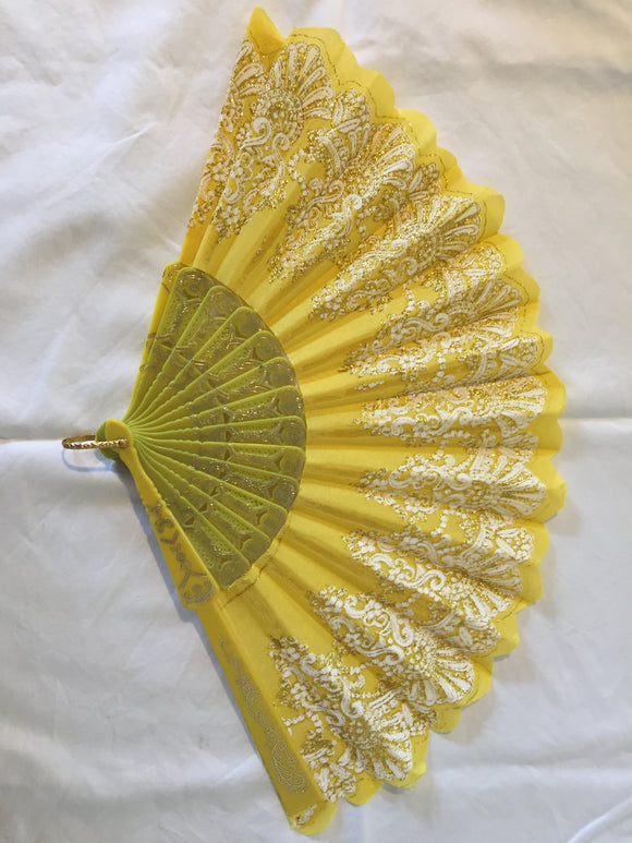 Gorgeous Yellow Handheld Fan (ref: 6164)