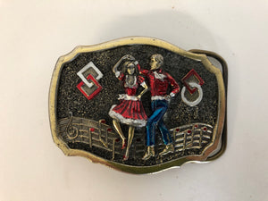 Square Dancing Belt Buckle (ref: 5894)