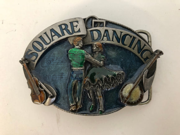 Square Dancing Belt Buckle (ref: 5898)
