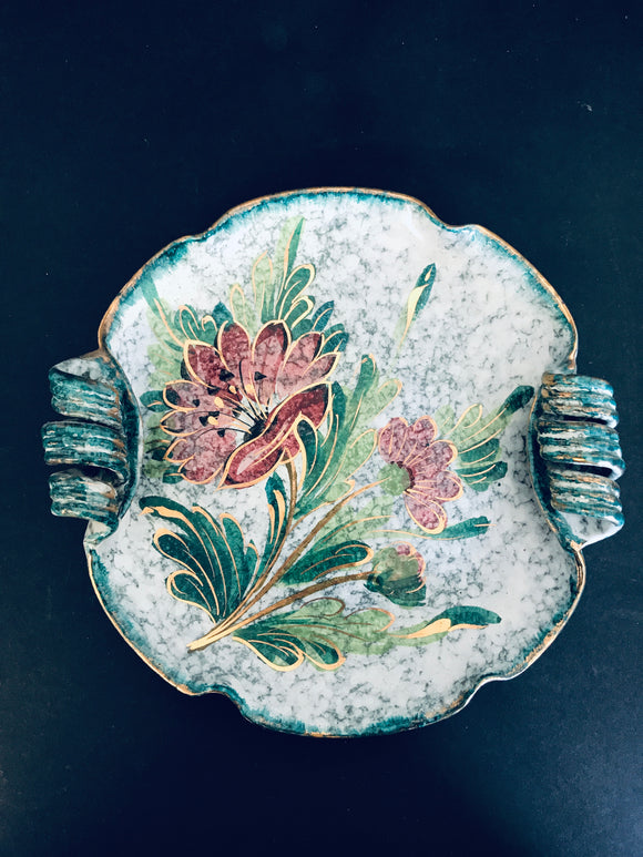Antique Majolica Hand Painted Plate (ref: 6505)