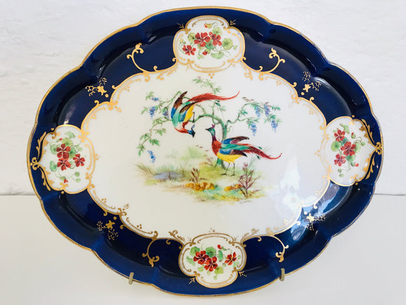 Antique Collingwoods Hand Painted 'Pheasants' Platter (ref: 6506)