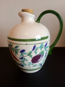 Stunning Hand-Painted Oil Jug by Boston Warehouse (ref: 2796)