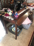 Antique Mahogany Drop-Side Table with Drawer (ref: 6021)