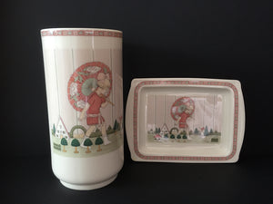 Royal Doulton Golden Days Vase and Plate