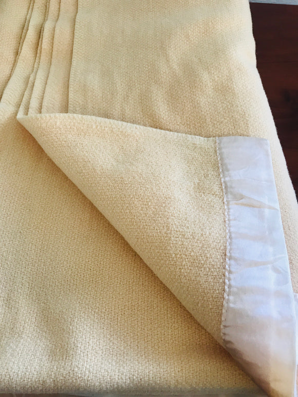 Vintage Royal Wool Butterscotch Blanket (7123)