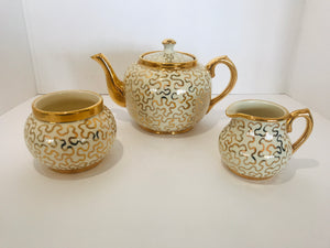 Sudlow's Burslem Tea Pot/Creamer/Sugar (7151)
