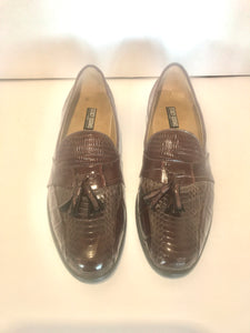 NEW Snake Skin & Leather Mens Shoes (7154)