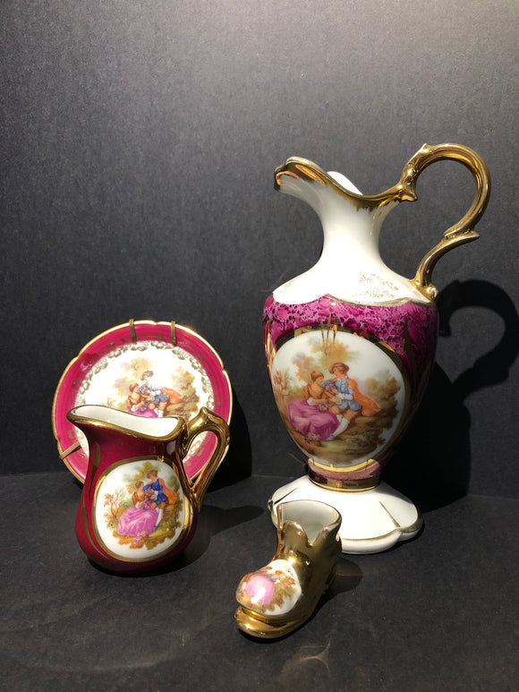 Limoges Fragonard The French Lovers - 4 pieces (ref: 6508)
