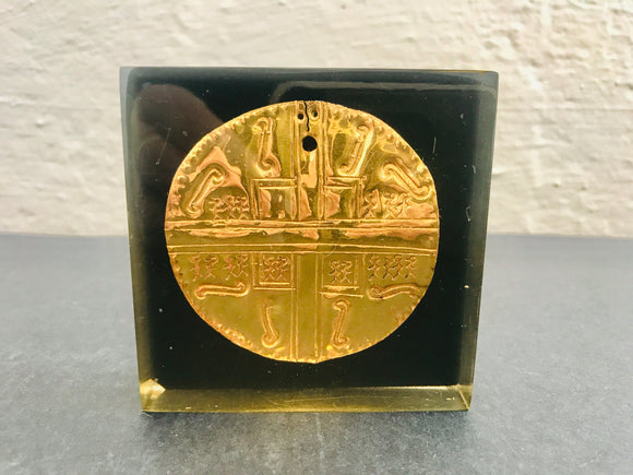 Pre-Hispanic Pectoral Gold Paperweight (7176)