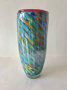 Stunning Chinese Art Glass Vase (7261)