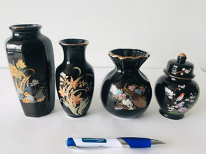 4 x Japanese Black Porcelain (7282)