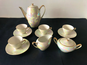 1954 Luster Demitasse Coffee Set (7286)