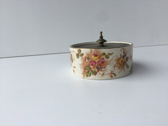 1937 W & W Sugar/Sweets Bowl with Metal Lid (ref: 483)