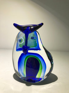Limited Edition Owl Art Glass by The New Zealand Collection (ref: 6633)
