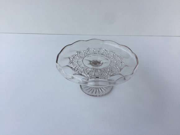 Glass cake stand (low)
