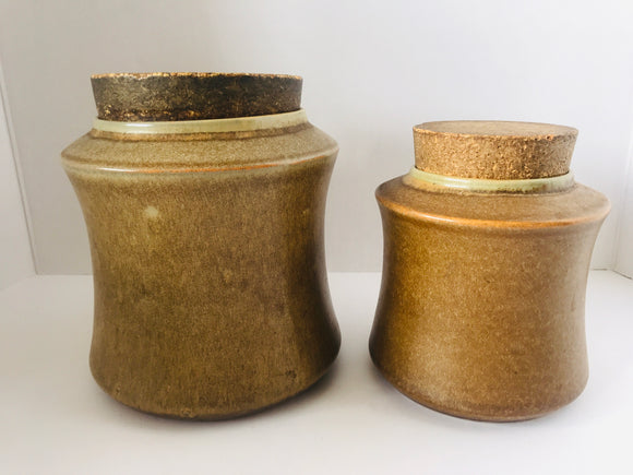 1970's Temuka 2 x Canisters (7363)