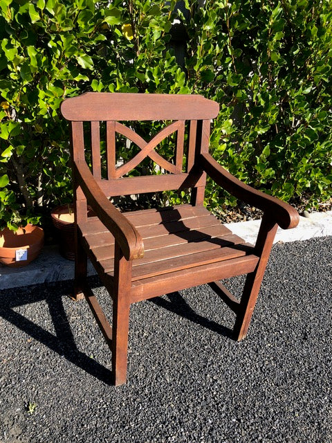 Single Outdoor Solid Wood Seat (ref: 7032)