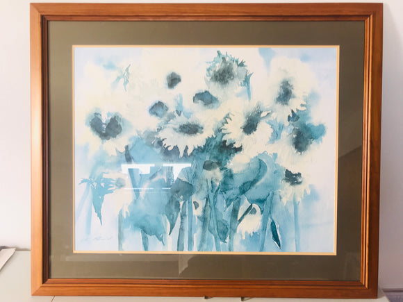 Huge Framed Sunflower Print (7428)