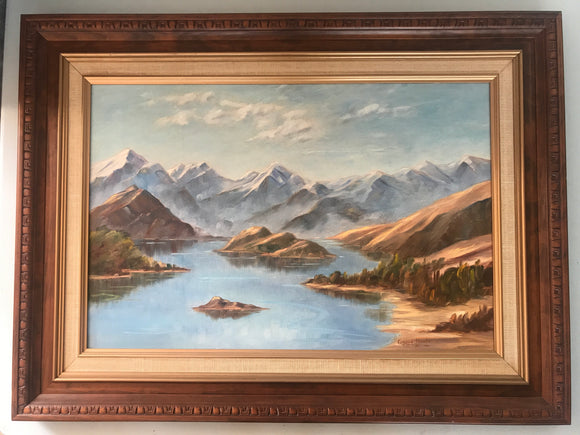 ORIGINAL Oil 'Glenorchy' by Eugenie Hawke (7496)