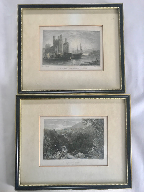 2 x Antique Welsh Prints (7503)