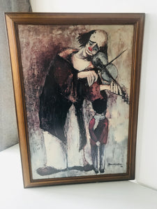 "1960's Framed Print ""Clown Met Kind"" (7505)"