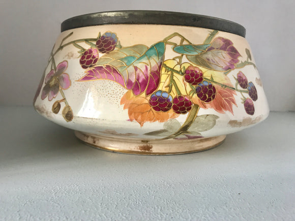 Hand Painted Victorian Serving Bowl (7559)