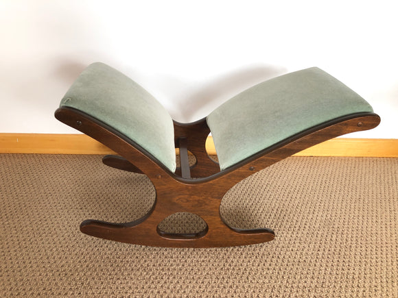 Olive Green Rocking Footstool (7407)
