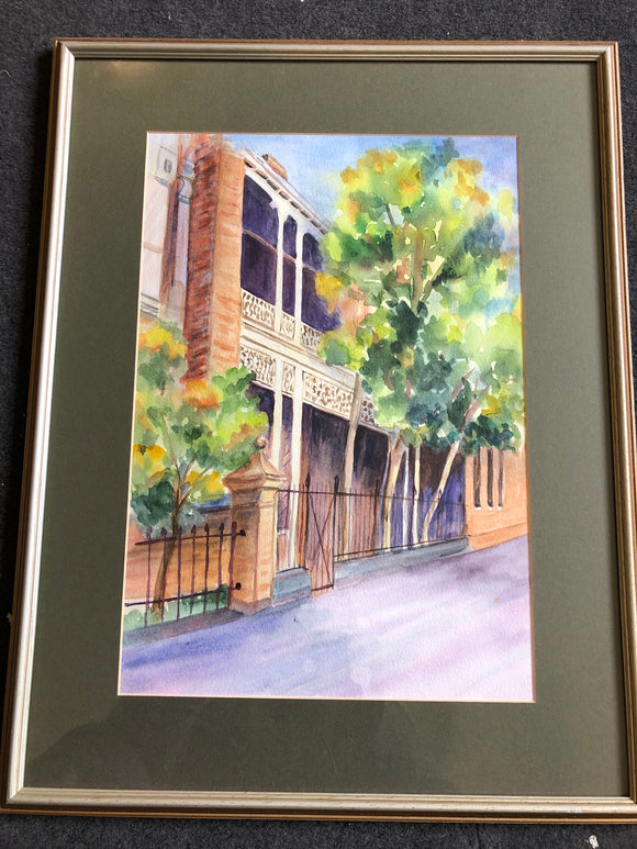 Melbourne Terrace House Water Painting (ref: 2474)