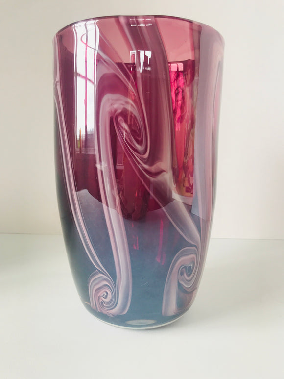 Vintage Hand Blown Glass Vase (7577)
