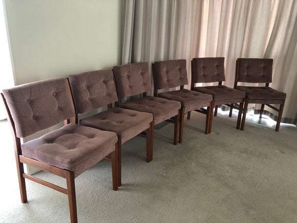 6 x Burgundy Dining Room Chairs (7662)