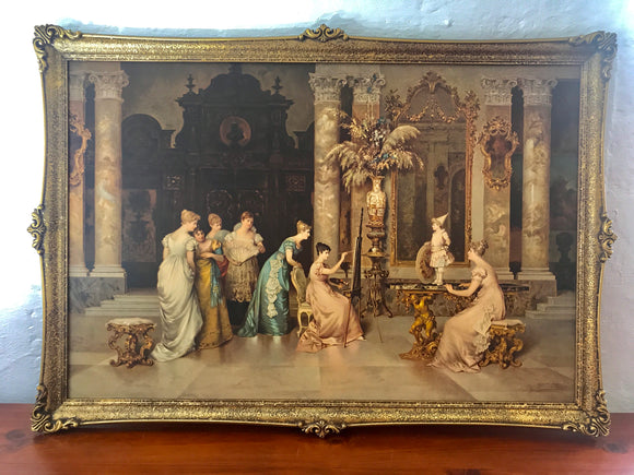 ''The Portrait' F. Beda Print in Ornate Frame (7603)