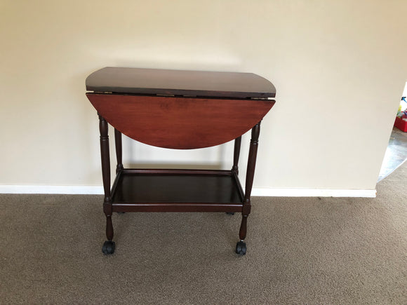 Dark Stained Tea Trolley Table (7762)