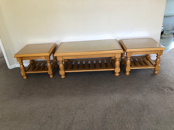 Set of 3 Kauri Tables (7764)