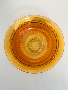 Art Deco Amberina Carnival Glass Bowl (7625)