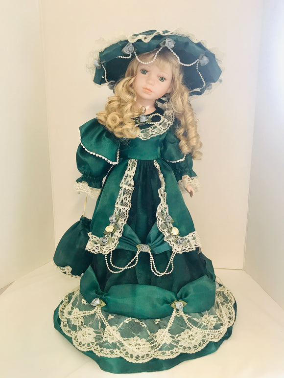 Victorian Lady Porcelain Doll (7630)
