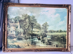 ''The Hay-Wain' by John Constable in Gilt Frame (7638)