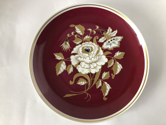 Wallendorf 1764 Red & Gold Gilt Platter (8081)